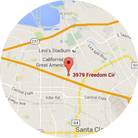 Map location of Santa Clara, California office